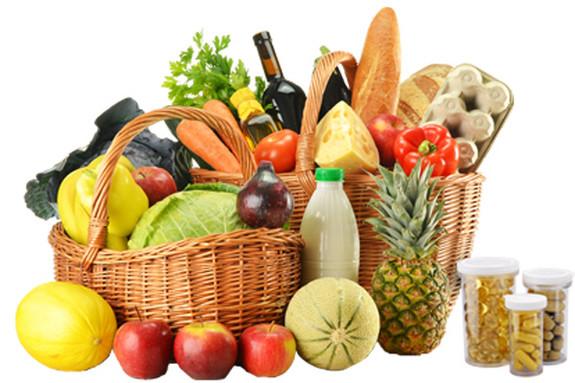 Košík čerstvých potravin